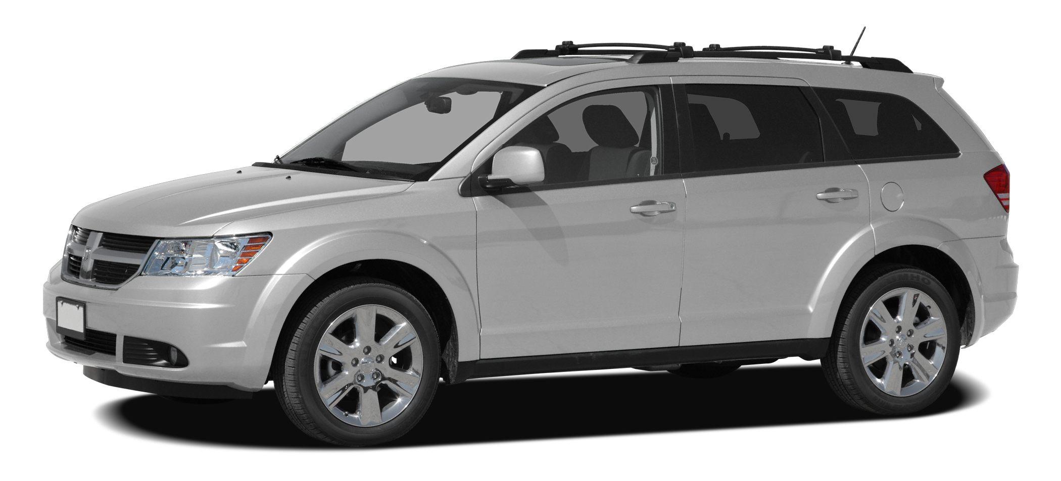 2010 Dodge Journey SXT AWD SXT Bright Silver Metallic on Dark Slate Gray interiorVery well equ