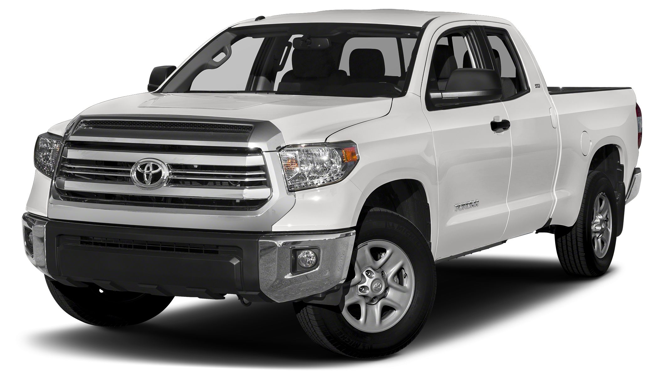 2017 Toyota Tundra SR5 SR5 trim SUPER WHITE exterior and GRAPHITE interior iPodMP3 Input Bluet
