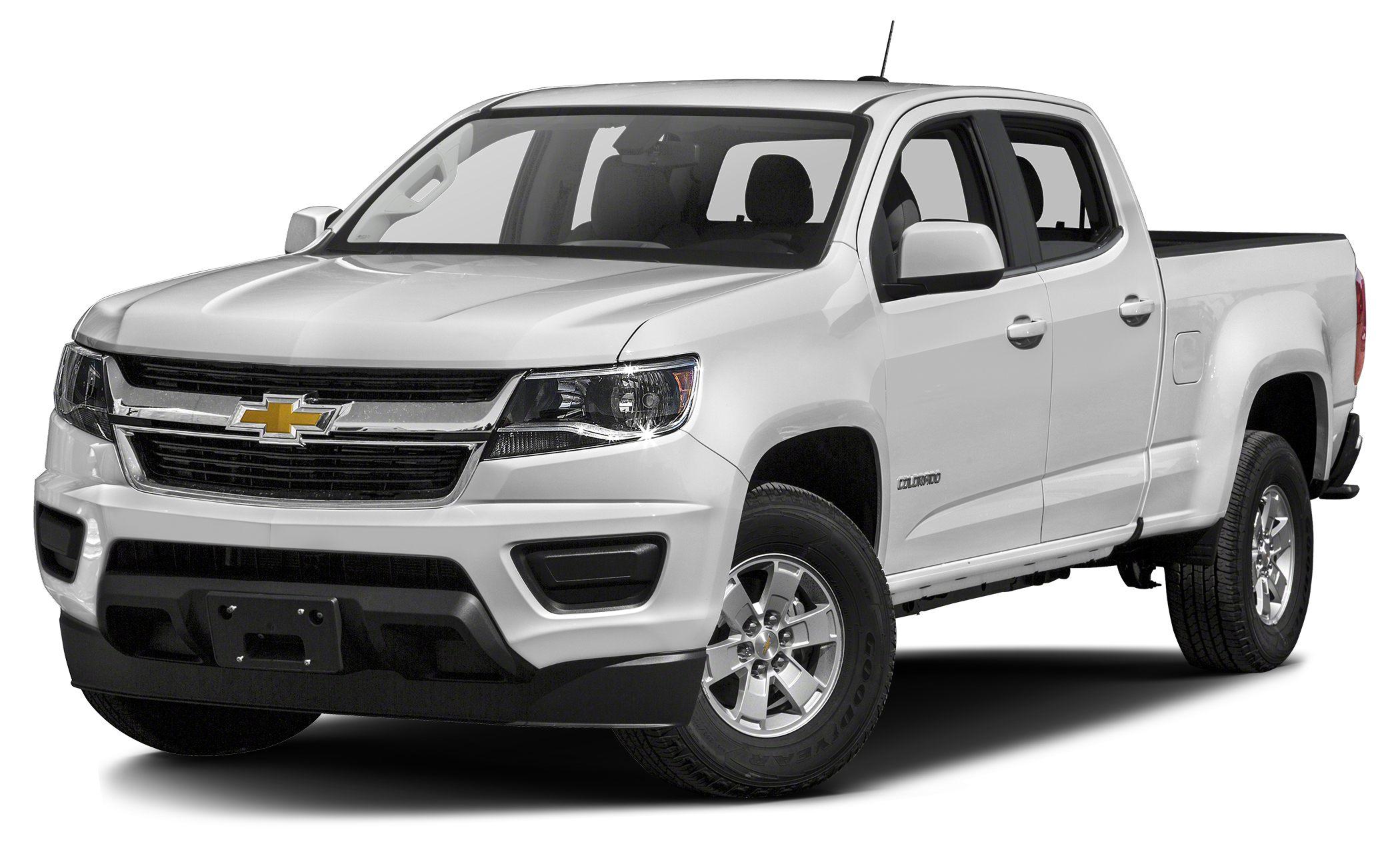2018 Chevrolet Colorado WT SUMMIT WHITE exterior and JET BLACK  DARK ASH interior 4WD Work Truck