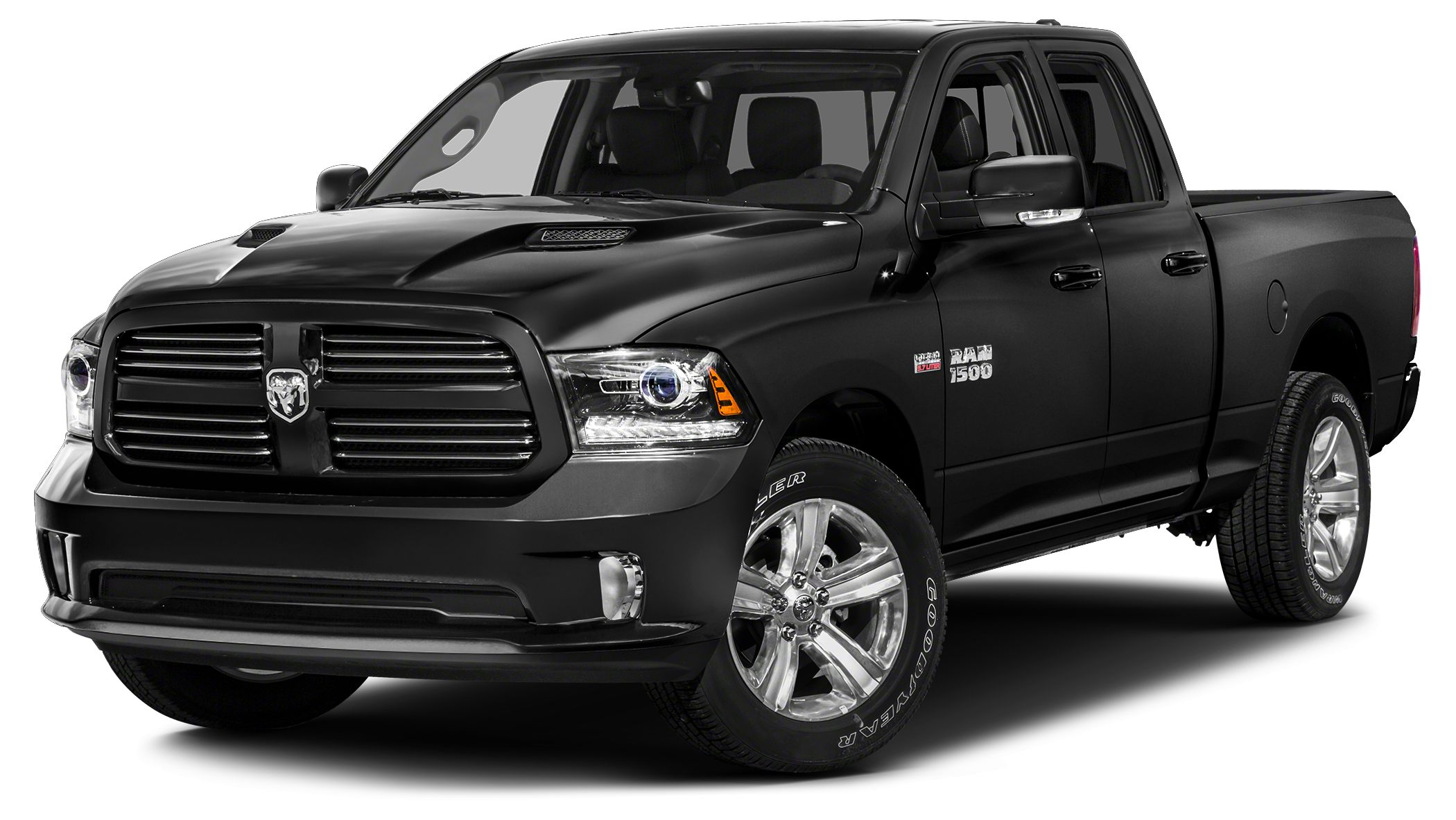 2015 RAM 1500 Sport Miles 68555Color Brilliant Black Crystal Pearlcoat Stock FJ0150B VIN 1C6
