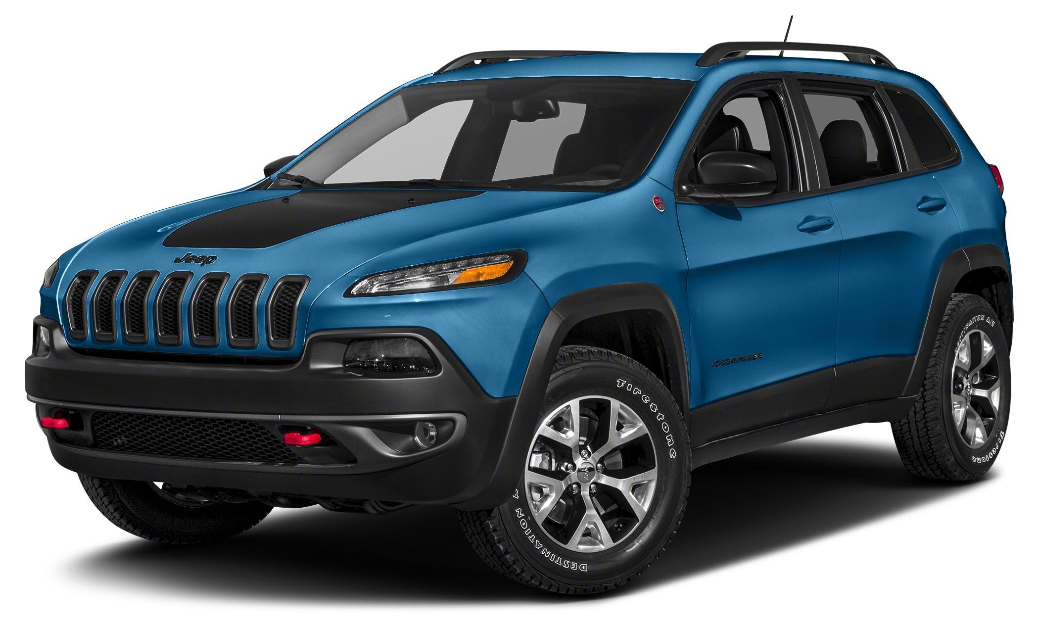 2018 Jeep Cherokee Trailhawk Miles 13Color Hydro Blue Stock 18CK134 VIN 1C4PJMBX5JD532626