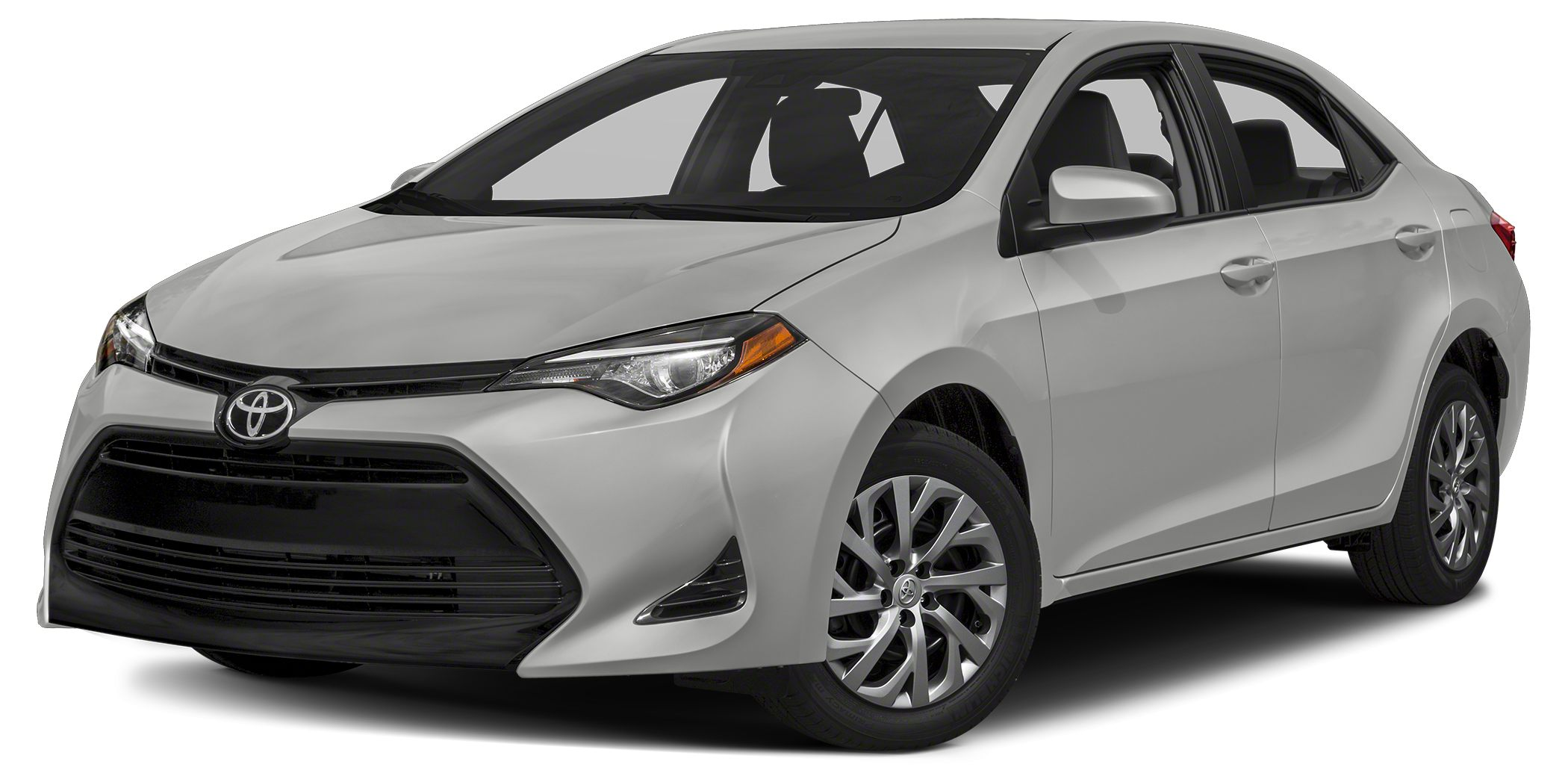 2017 Toyota Corolla LE LE trim CLASSIC SILVER METALLIC exterior and BLACK interior Back-Up Camer