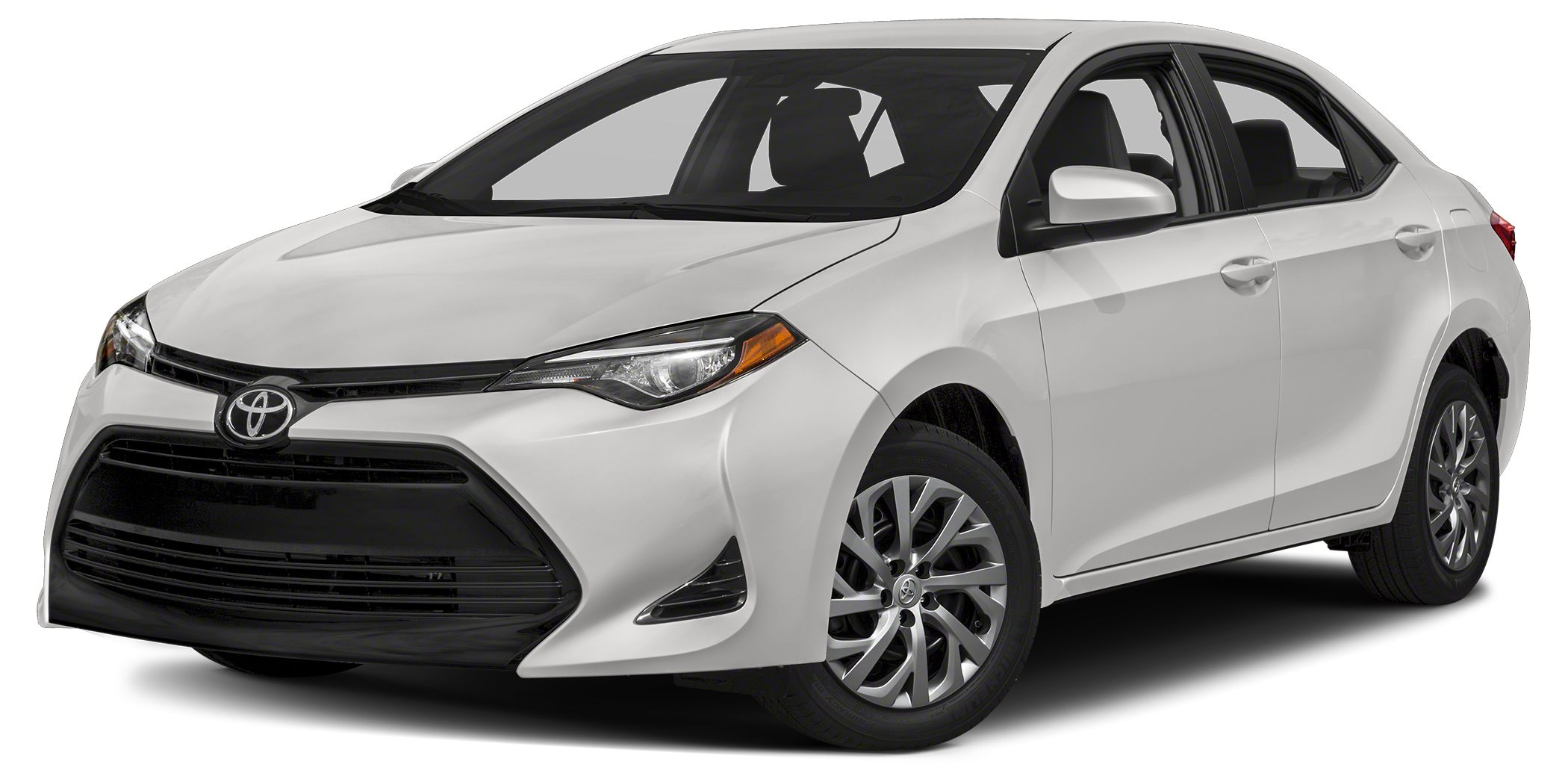 2017 Toyota Corolla LE LE trim SUPER WHITE exterior and ASH interior FUEL EFFICIENT 36 MPG Hwy2