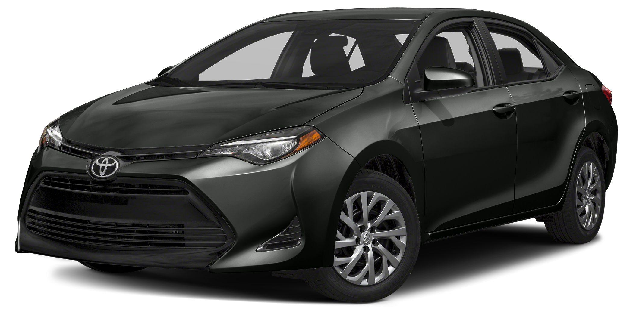2017 Toyota Corolla LE BLACK SAND PEARL exterior and ASH interior LE trim iPodMP3 Input Blueto