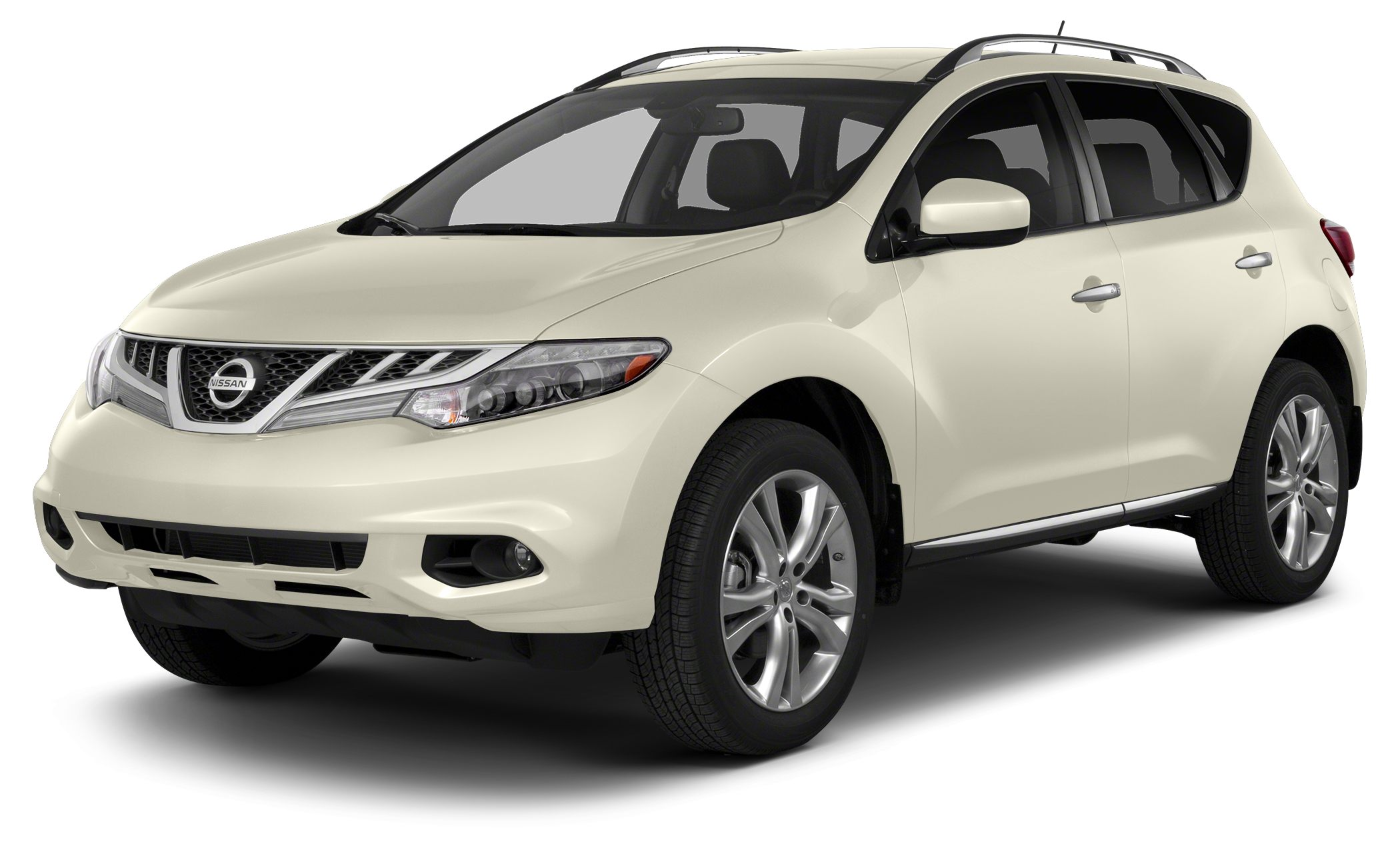 2014 Nissan Murano S 4D Sport Utility 35L V6 DOHC FWD Pearl White Beige wCloth Seat Trim AB