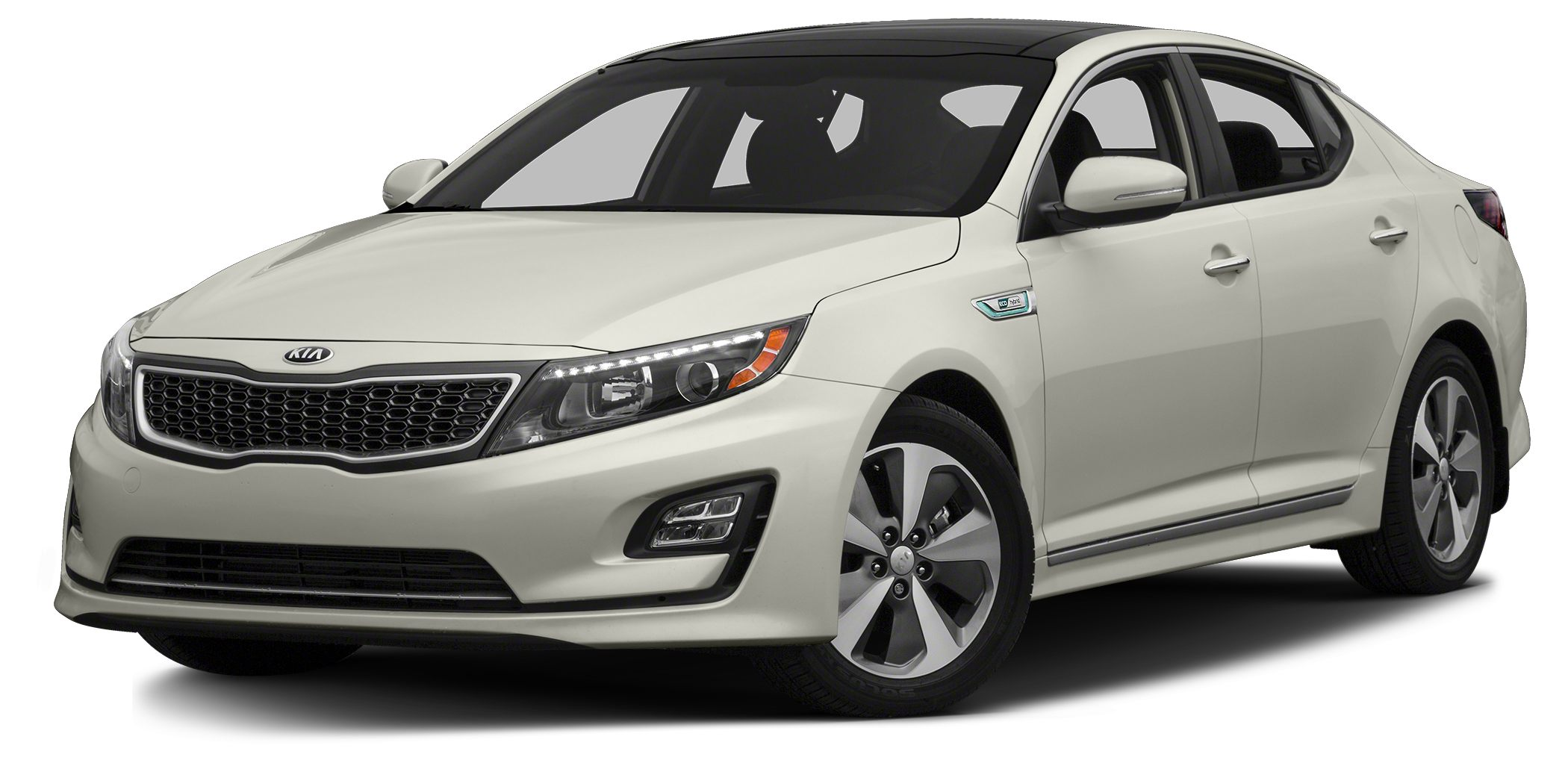 2014 Kia Optima Hybrid  Miles 34375Color White Stock SB15545A VIN KNAGM4AD0E5070326