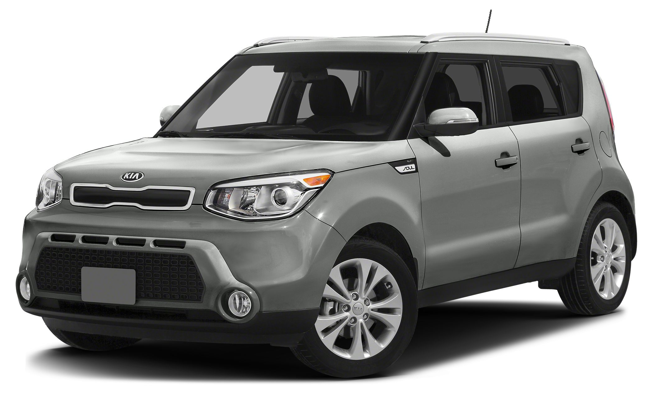 2014 Kia Soul Base 4D Hatchback 16L I4 DGI Gamma 6-Speed Automatic FWD Titanium Gray and Gra