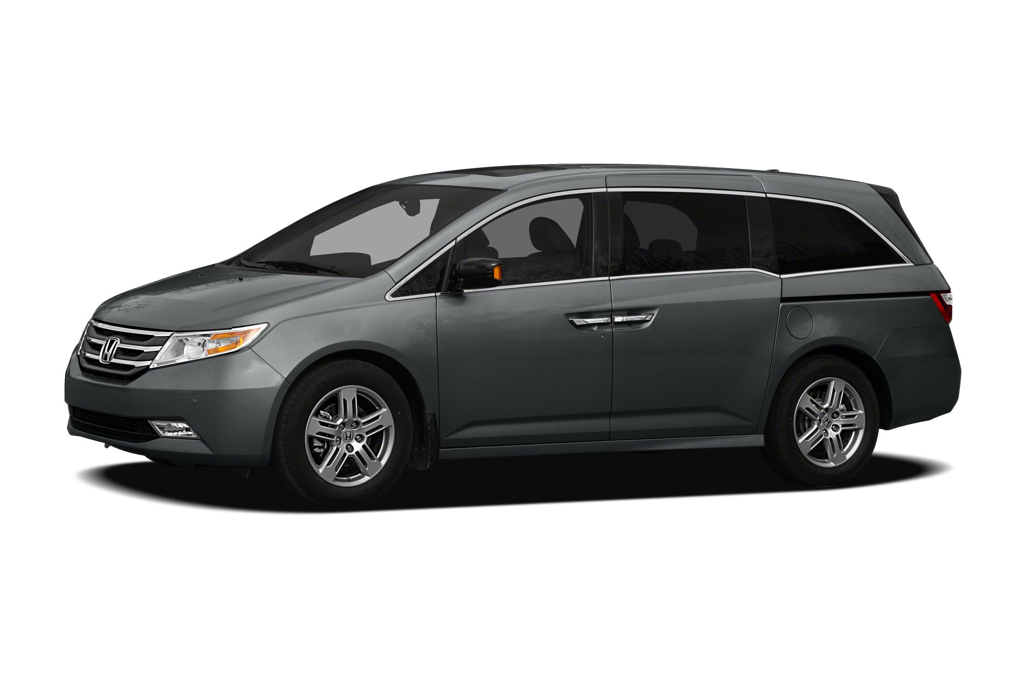 2012 Honda Odyssey EX-L EX-L Taffeta White on Stone Gray Heated Leather Bluetooth Moonroof Re