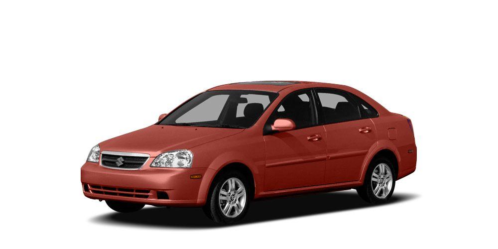 2007 Suzuki Forenza  Miles 160095Color Red Stock K7317B VIN KL5JD56Z17K703218
