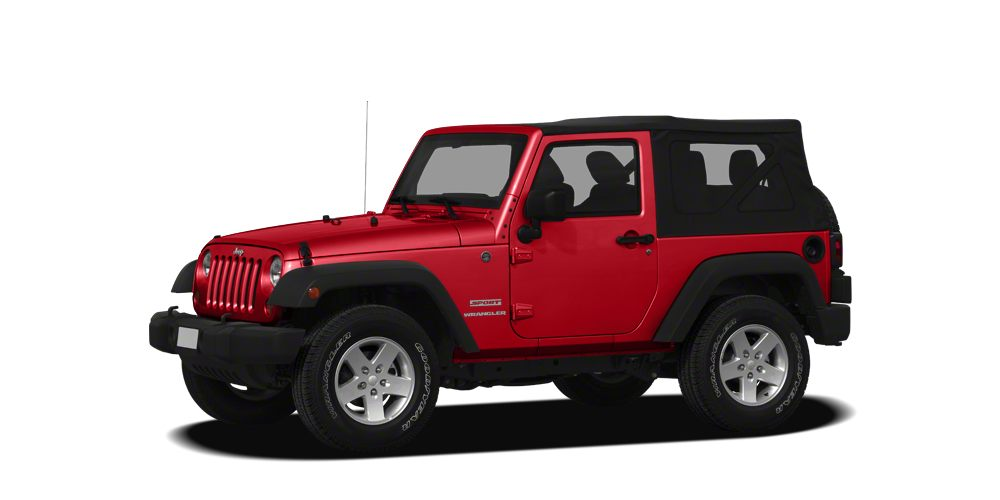 2012 Jeep Wrangler Sport GREAT MILES 28851 Sport trim Flame Red exterior and Black Interior int