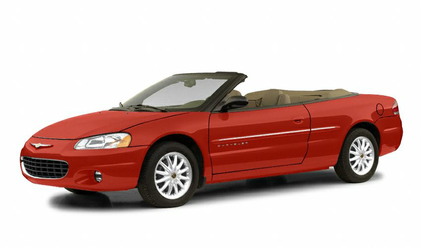 2002 Chrysler Sebring LX Miles 78727Color Red Stock 15K412A VIN 1C3EL45R02N265202