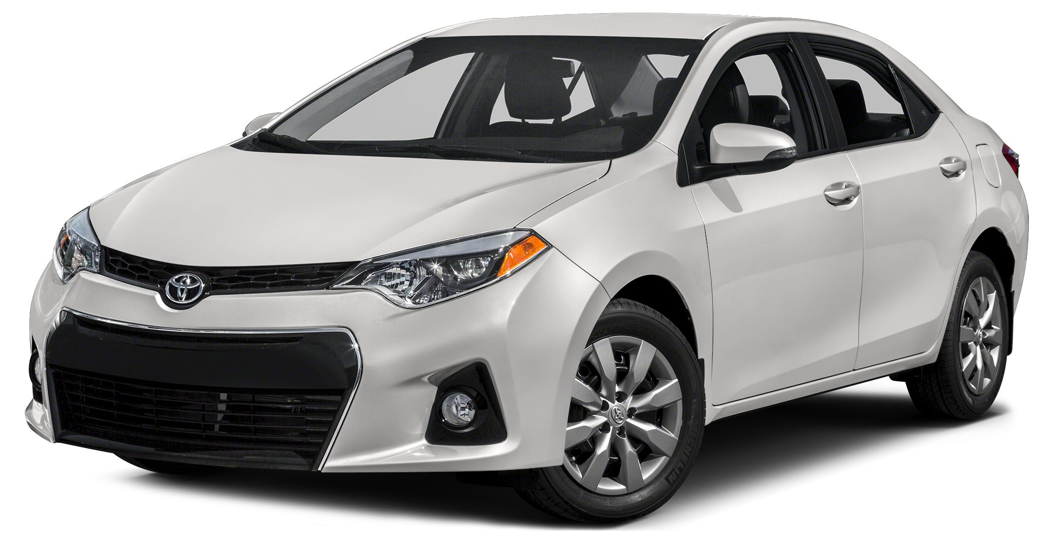 2015 Toyota Corolla S Plus SUPER WHITE exterior and BLACK interior EPA 37 MPG Hwy28 MPG City CA