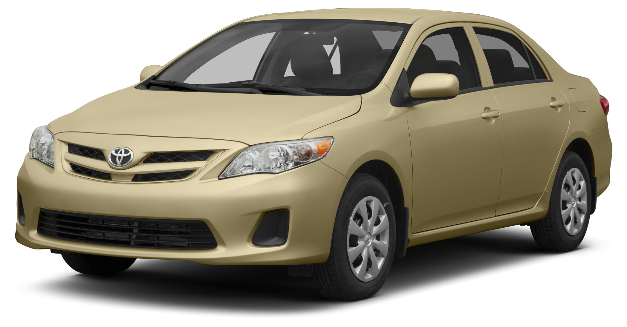 2013 Toyota Corolla LE EPA 34 MPG Hwy26 MPG City SANDY BEACH METALLIC exterior and BISQUE interi