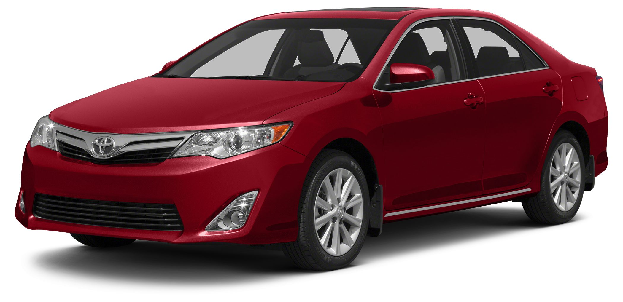 2013 Toyota Camry XLE CARFAX 1-Owner ONLY 28477 Miles XLE trim BARCELONA RED METALLIC exterior