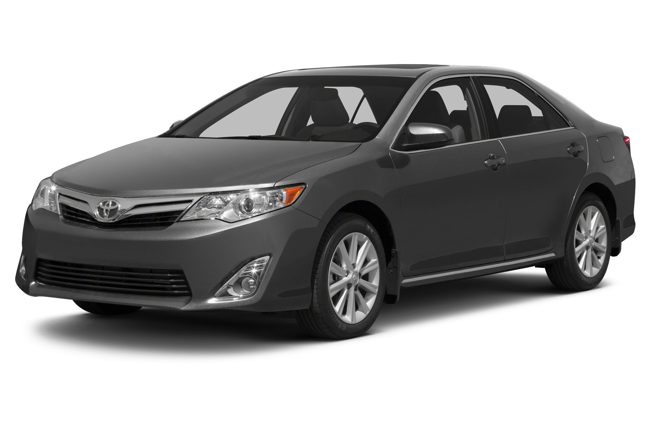 2013 Toyota Camry LE LE trim CLASSIC SILVER METALLIC exterior and BLACKASH 2-TONE interior FUEL