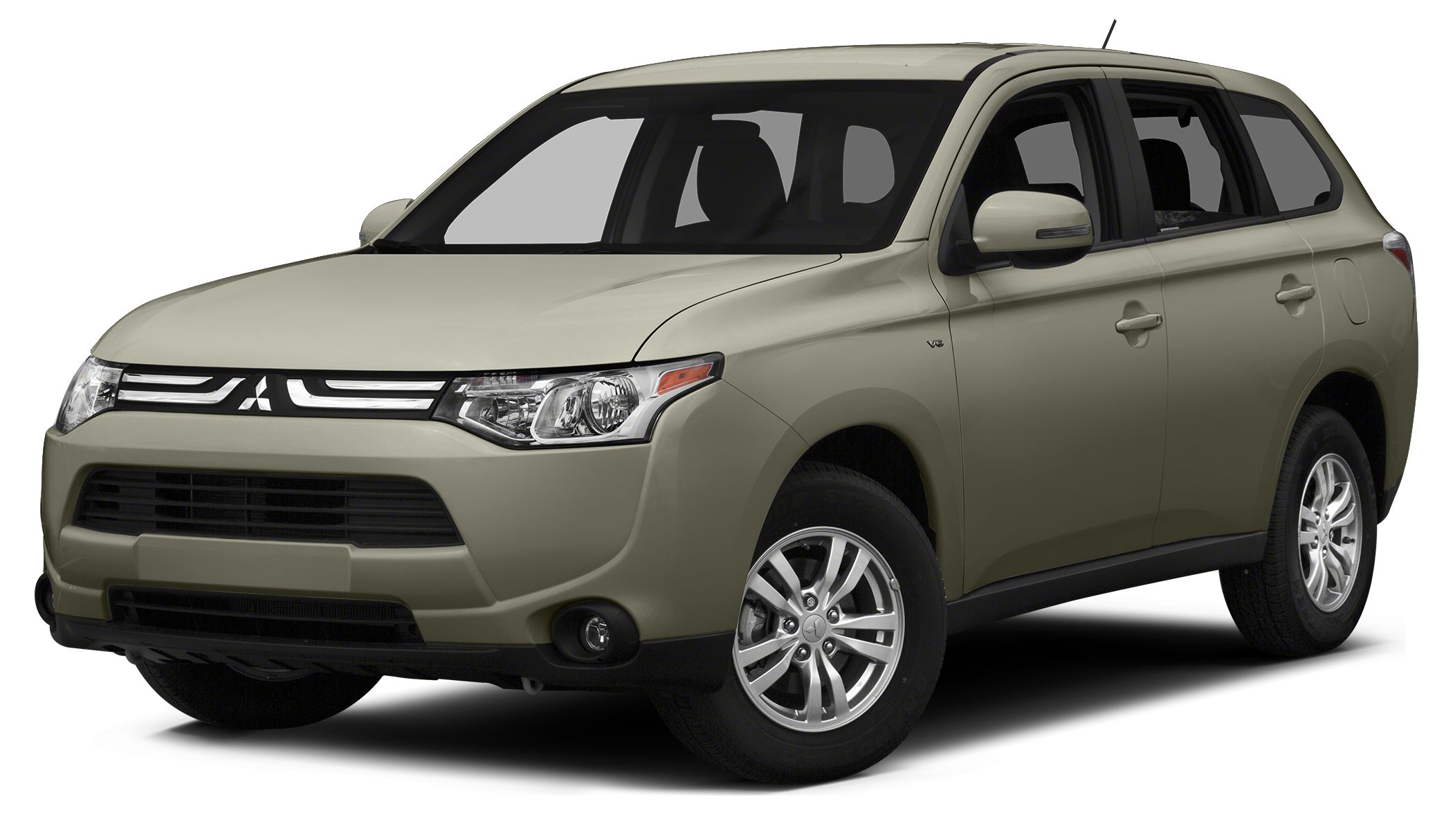 2014 Mitsubishi Outlander ES The Mitsubishi Outlander has been redesigned for 2014 with a lighter
